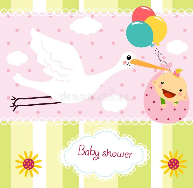Babypartykarte stock abbildung