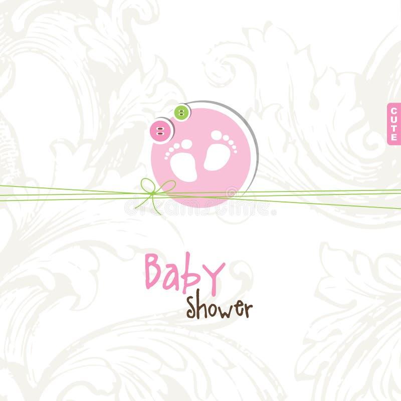 Babypartykarte mit Kopienraum vektor abbildung
