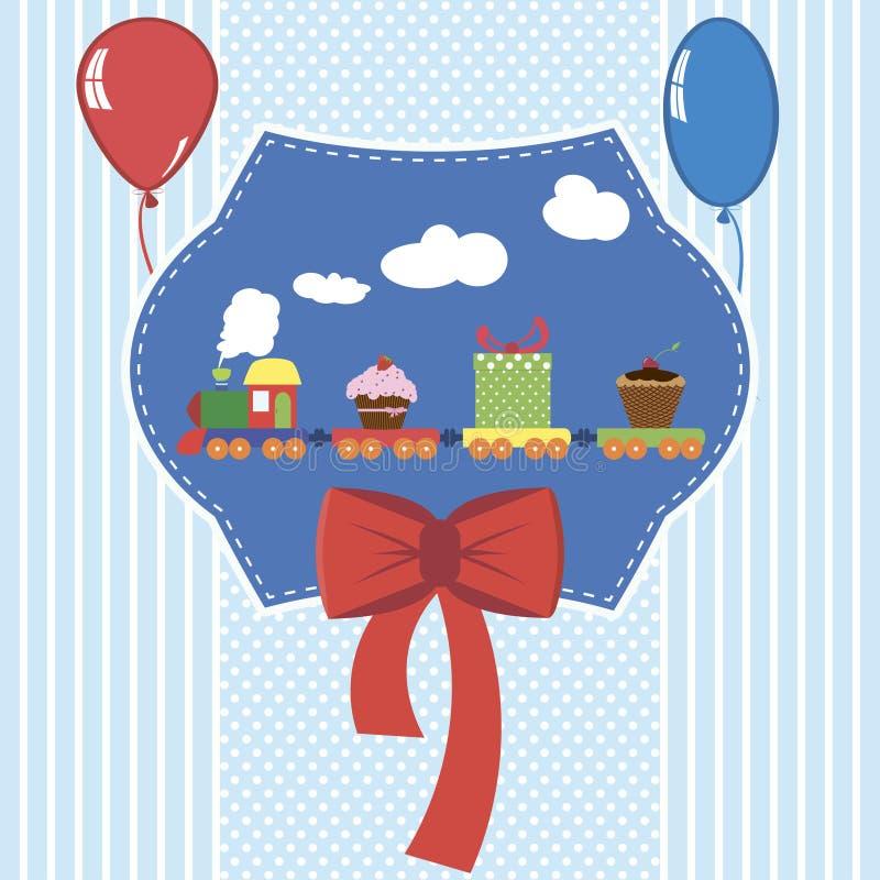 Babypartykarten-Vektorillustration stockfoto