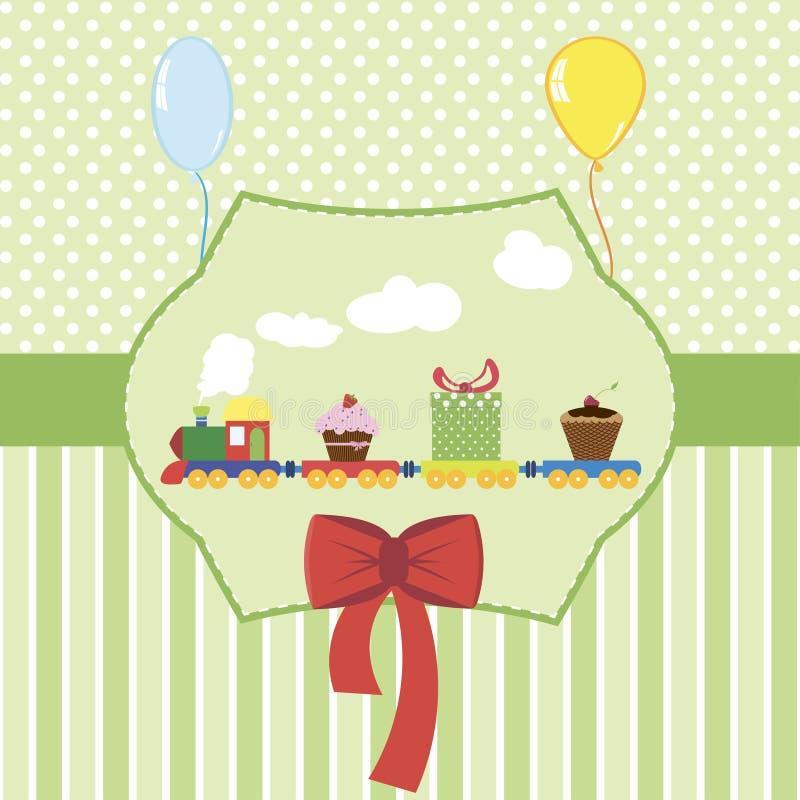 Babypartykarten-Vektorillustration lizenzfreies stockbild