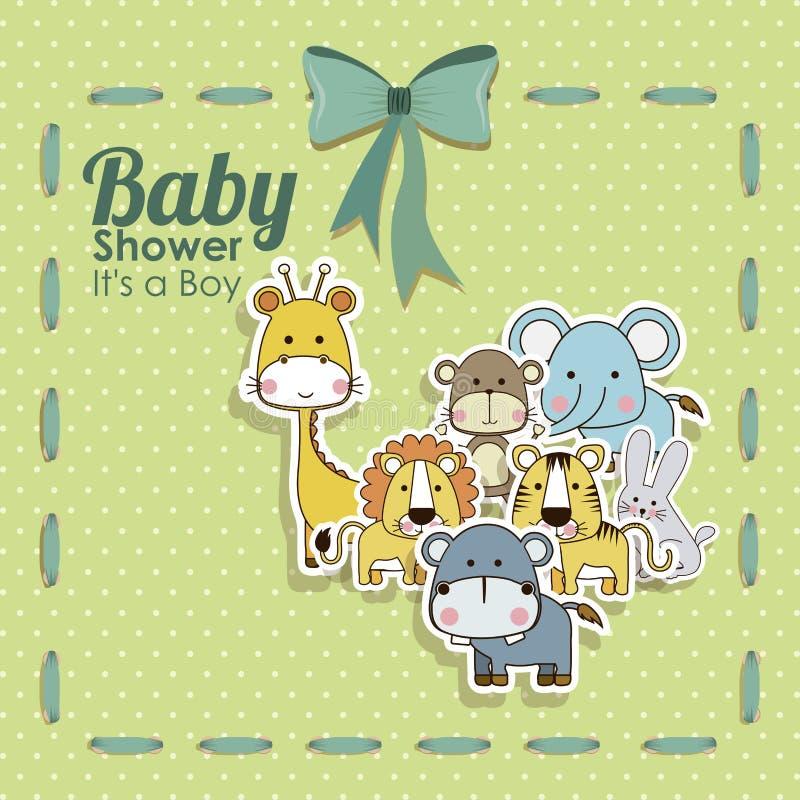 Babypartytierikonen lizenzfreies stockbild