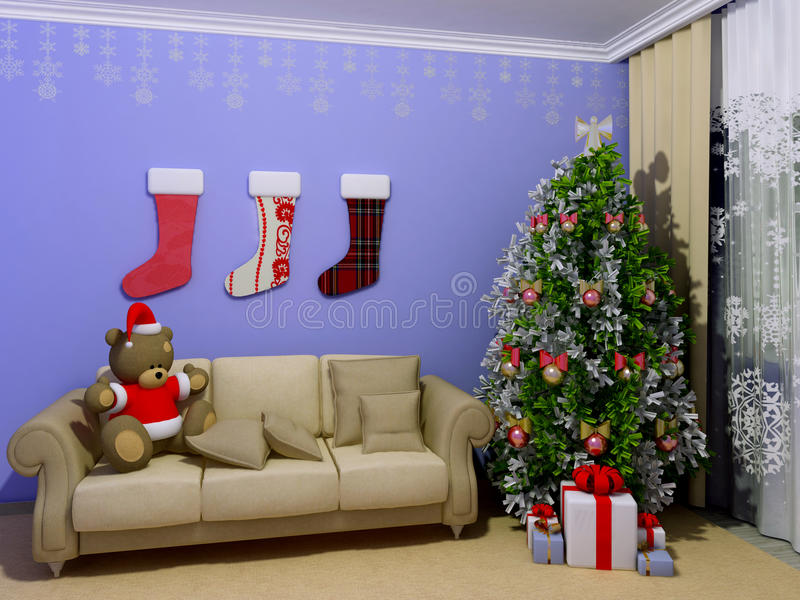 Babyroom de Noël (childroom) photo stock