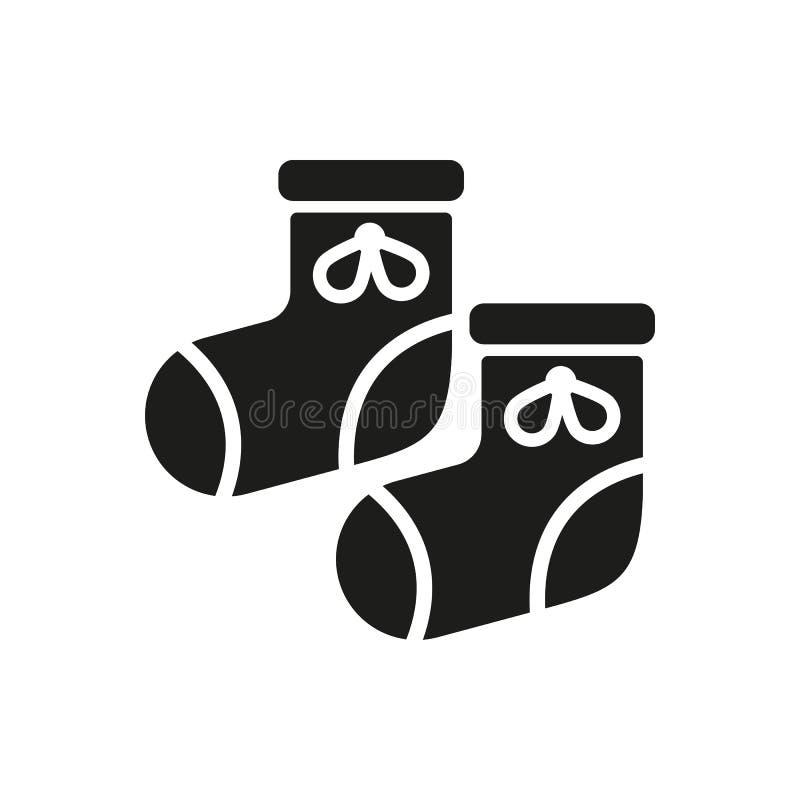 Babys-Babyschuhikone Entwurf Socken, sox-Symbol web graphik ai app zeichen nachricht flach bild zeichen ENV Kunst abbildung vektor abbildung