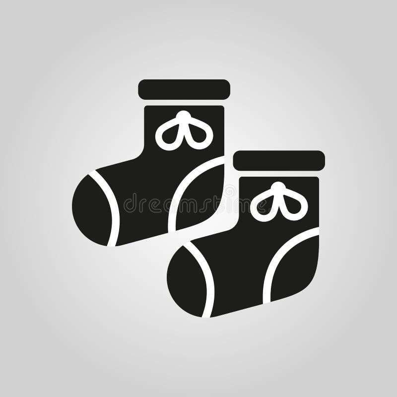 Babys-Babyschuhikone Entwurf Socken, sox-Symbol web graphik ai app zeichen nachricht flach bild zeichen ENV Kunst abbildung stock abbildung