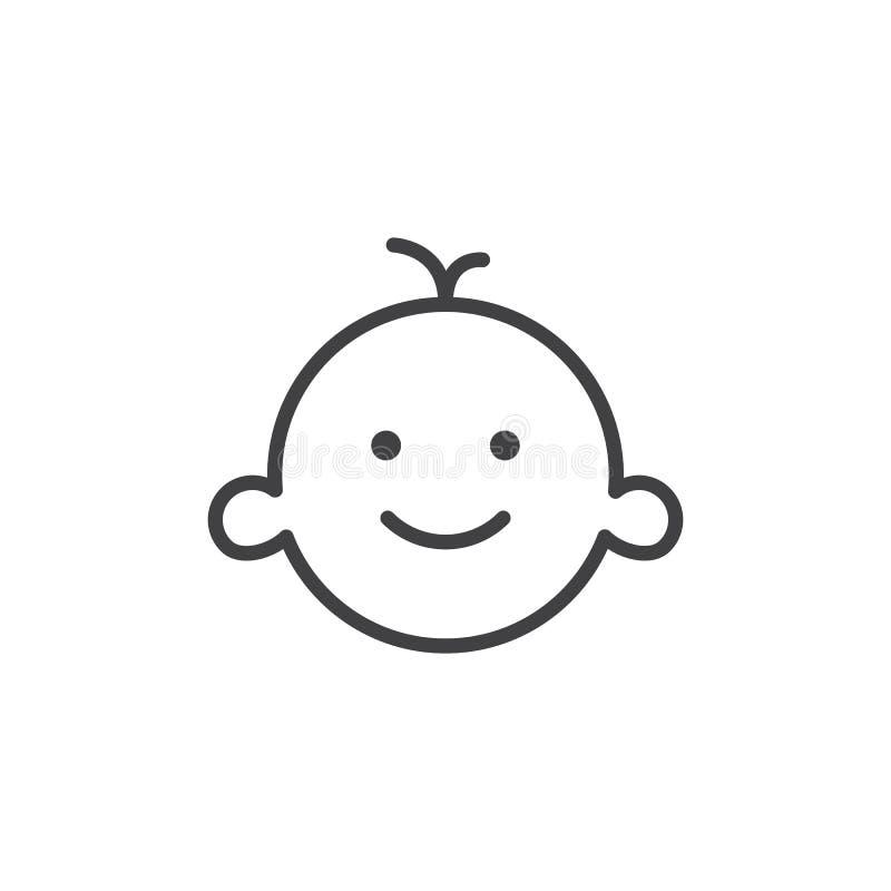 Babys rumlinje symbol vektor illustrationer