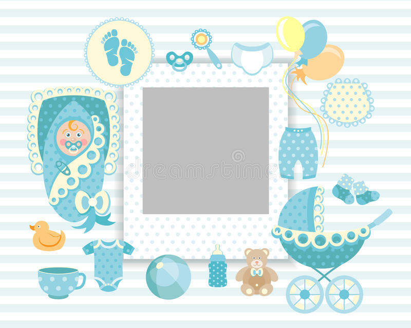 Babysatz lizenzfreies stockbild
