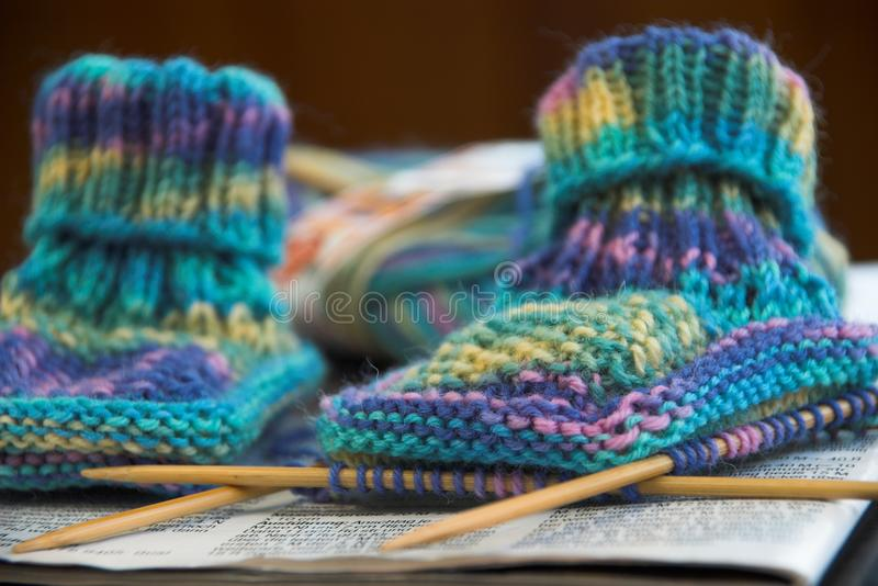 Babyshoes zdjęcia royalty free