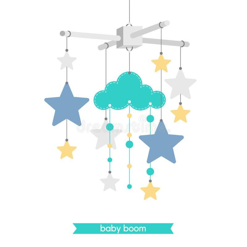 Babyshower mobiele 7 stock illustratie