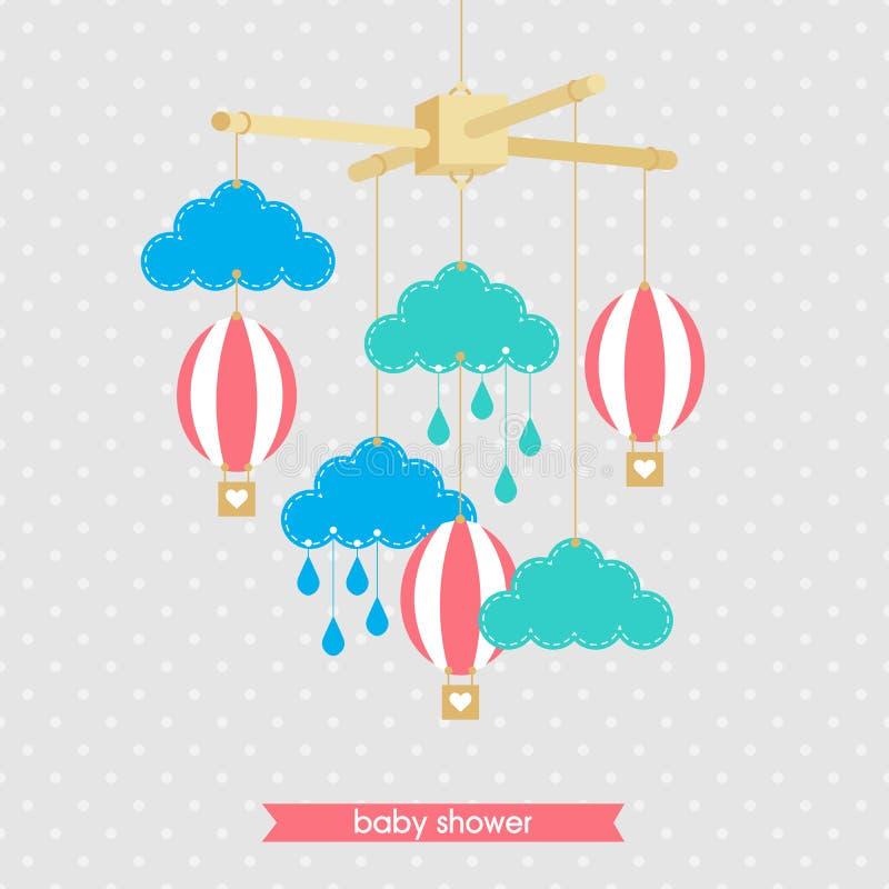 Babyshower mobiele 1 stock illustratie