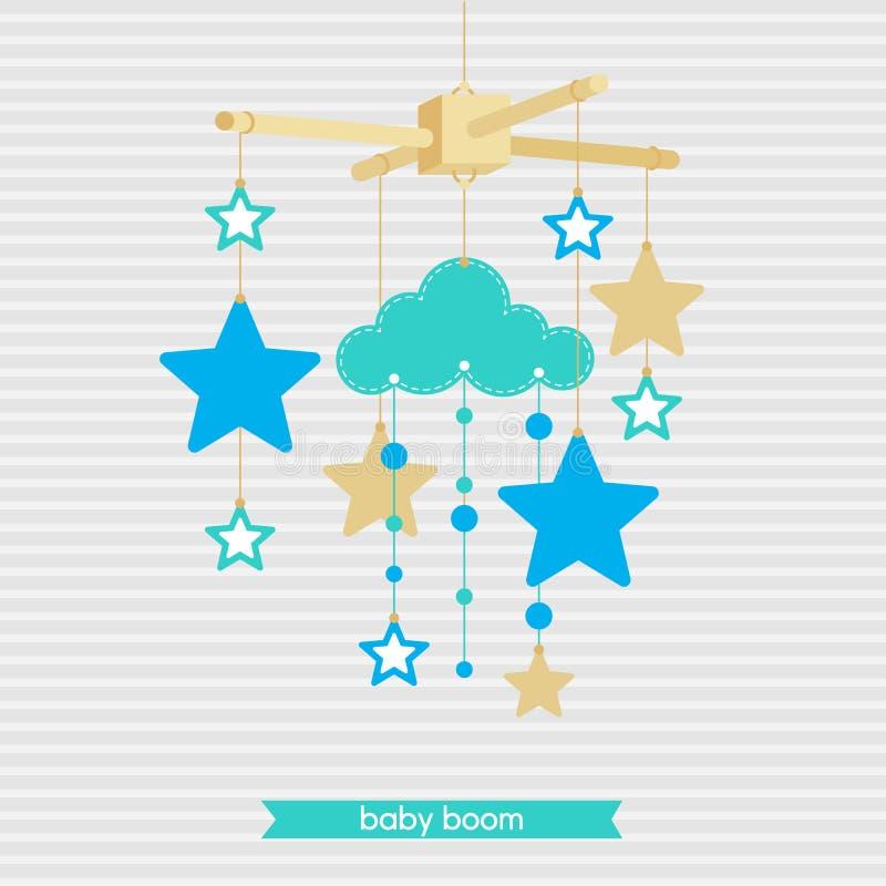 Babyshower mobiele 4 stock illustratie