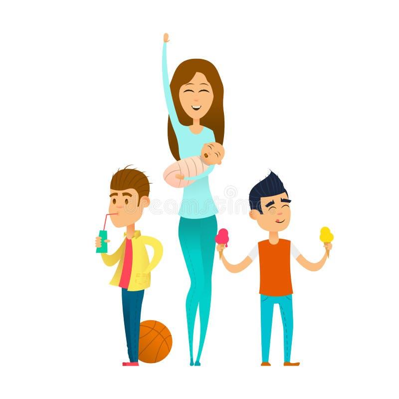 Babysitter élégante moderne illustration de vecteur