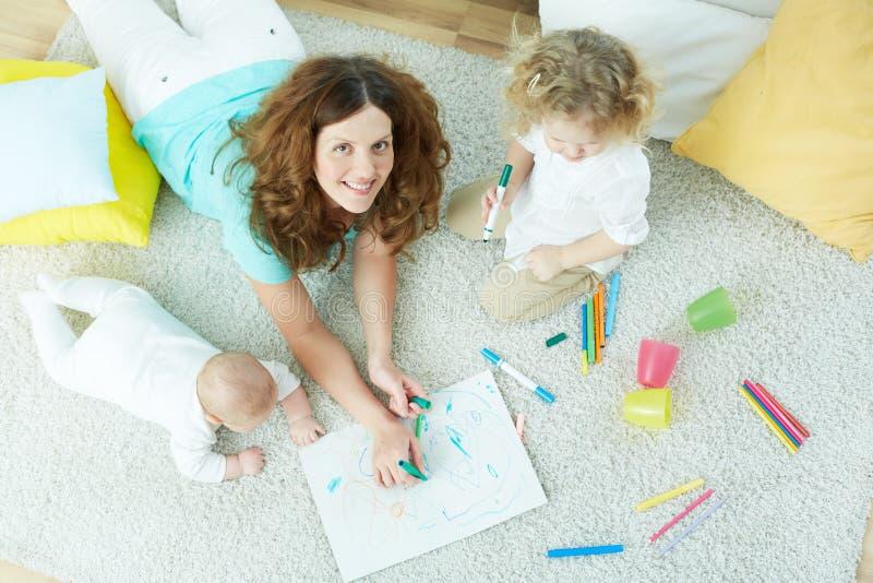 Babysitter fotografie stock