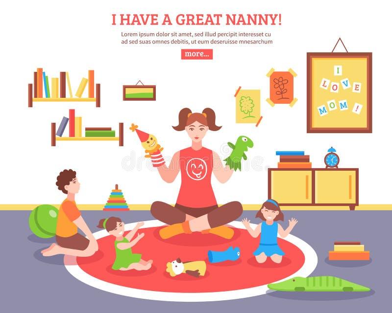 Babysitter Concept Illustration illustration libre de droits