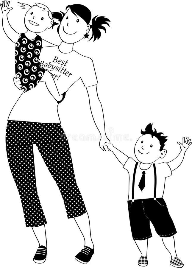 Babysitter de clipart (images graphiques) illustration de vecteur