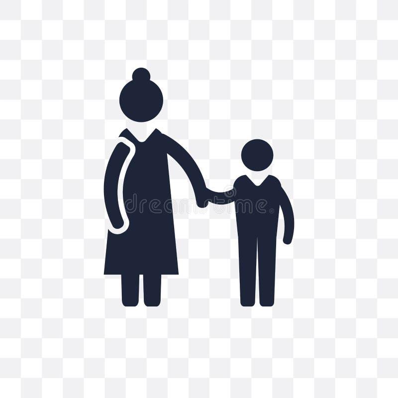 Babysitter transparant pictogram Het ontwerp van het babysittersymbool van Pro royalty-vrije illustratie