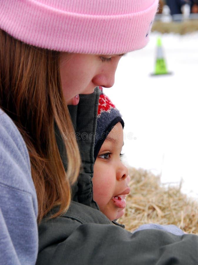 Babysitting fotos de stock royalty free