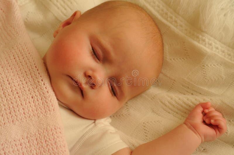 Babyslaap. royalty-vrije stock fotografie