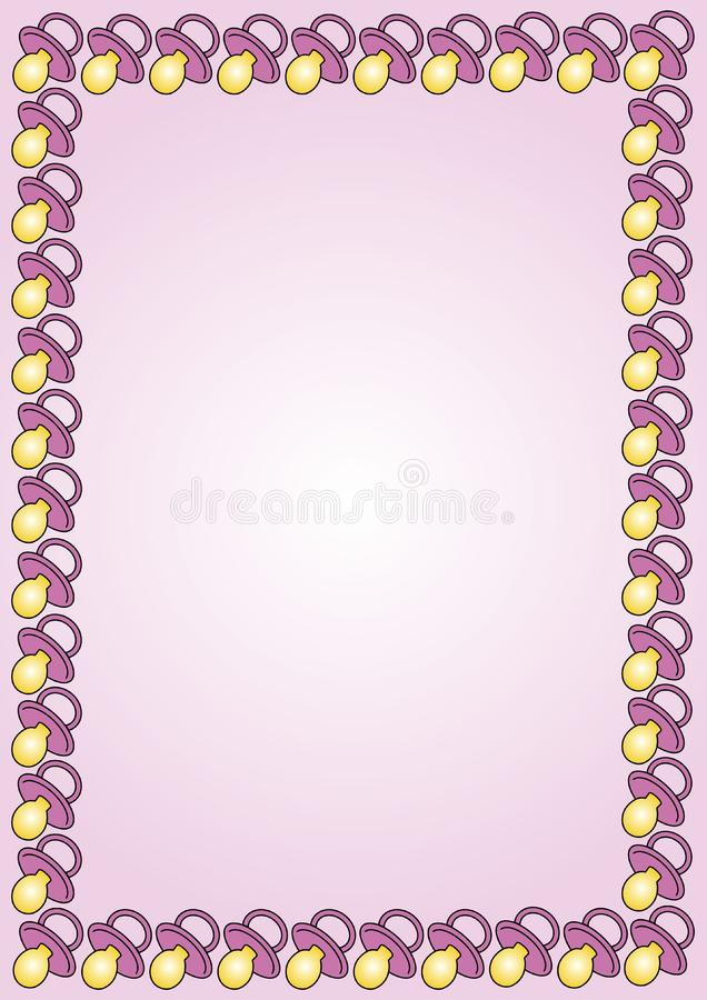 babysoother border pink stock photo
