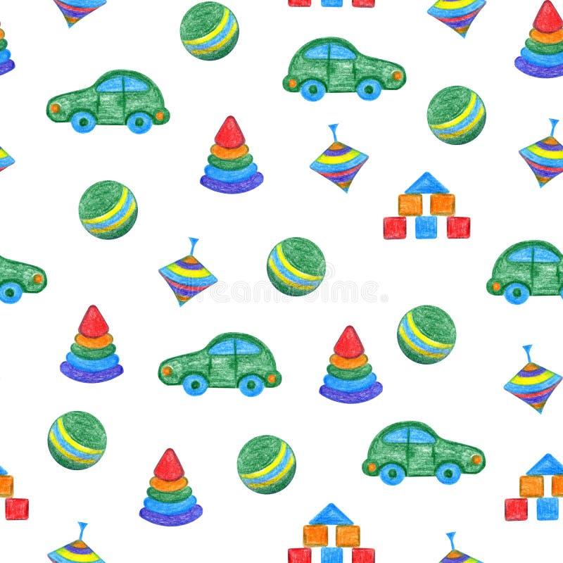 Babyspielwaren übergeben Zeichnung lizenzfreie abbildung