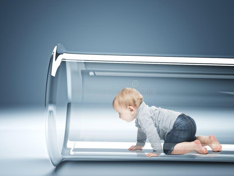 Babyverwezenlijking royalty-vrije stock fotografie