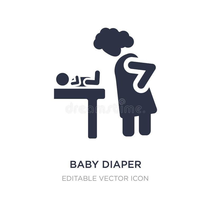 Babywindelikone auf weißem Hintergrund Einfache Elementillustration vom Leutekonzept vektor abbildung