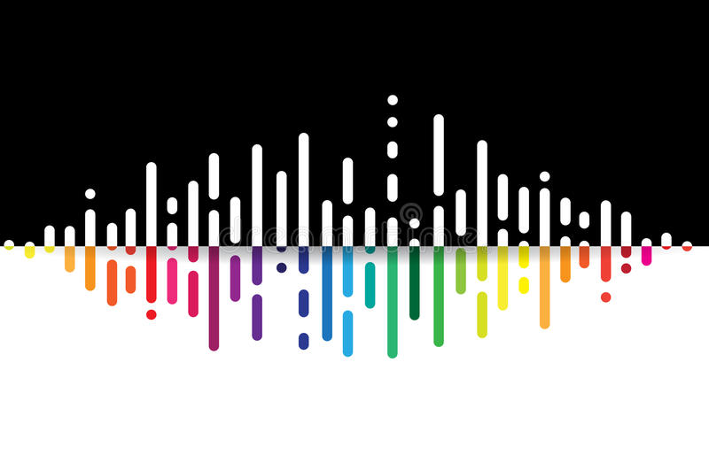 Bac дела концепции компьютерной технологии выравнивателя тома музыки иллюстрация штока