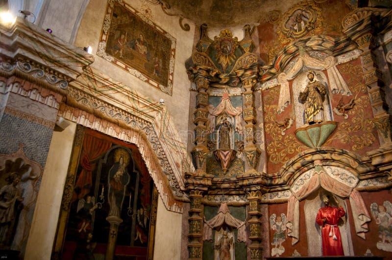 bac church del mission圣・ xavier 图库摄影