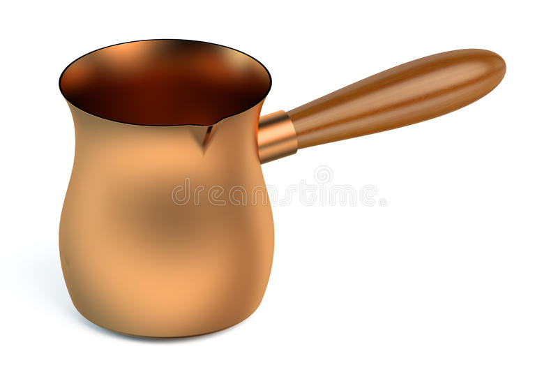 Bac de cuivre de café turc illustration libre de droits