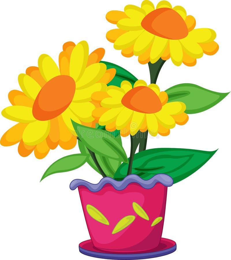 bac de fleurs illustration de vecteur
