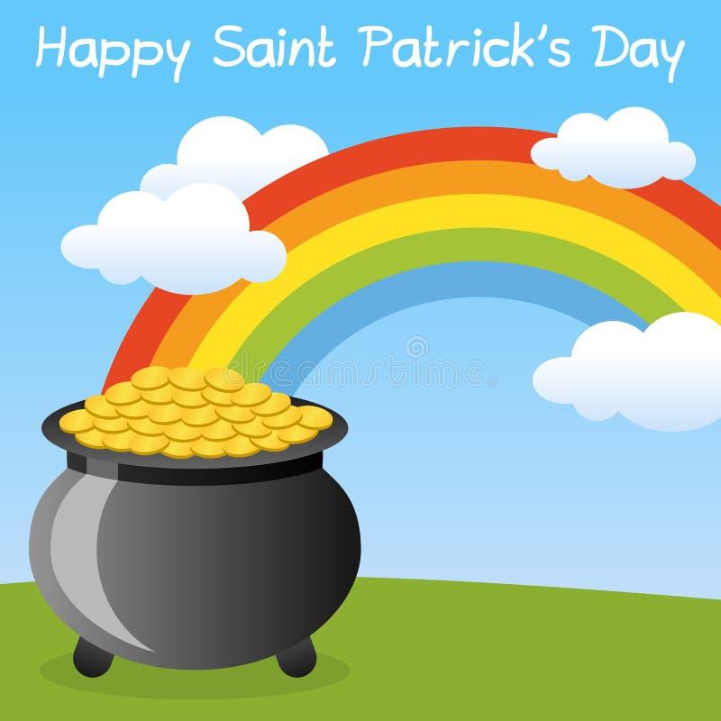 Bac de St Patrick s d'or heureux illustration de vecteur