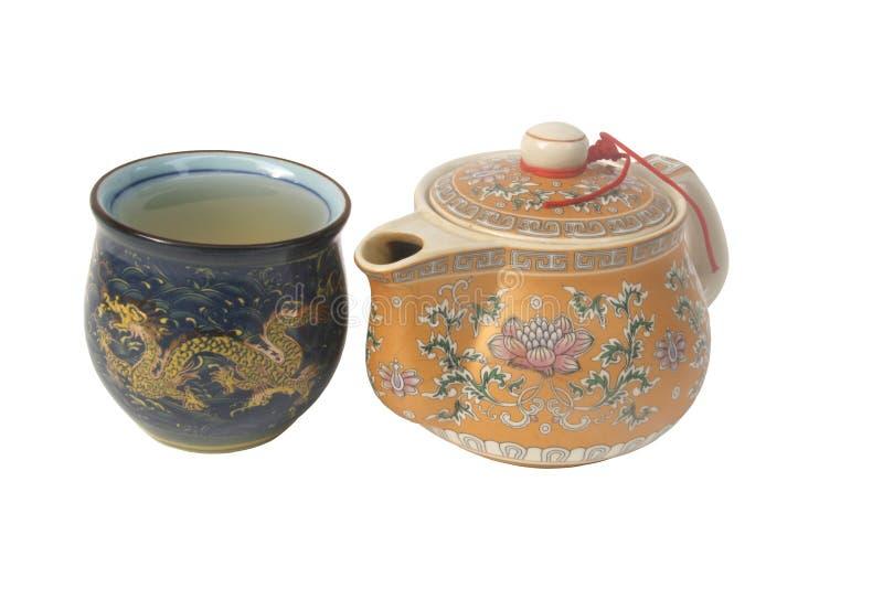 Bac de thé et cuvette de thé image libre de droits