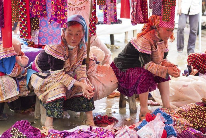 Bac Ha Markt royalty-vrije stock afbeeldingen