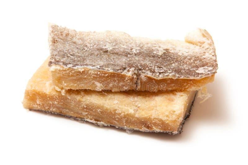Bacalao de sal secado, aislado fotos de archivo libres de regalías
