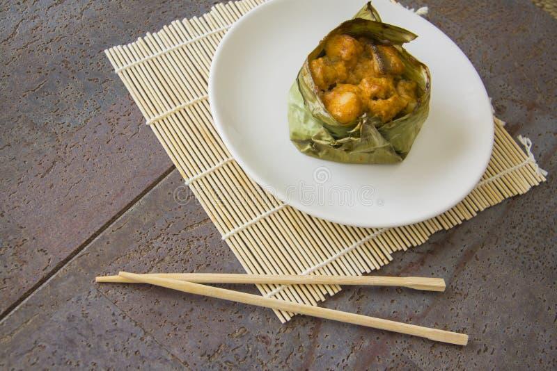 Bacalaos asiáticos en hojas del plátano fotografía de archivo libre de regalías