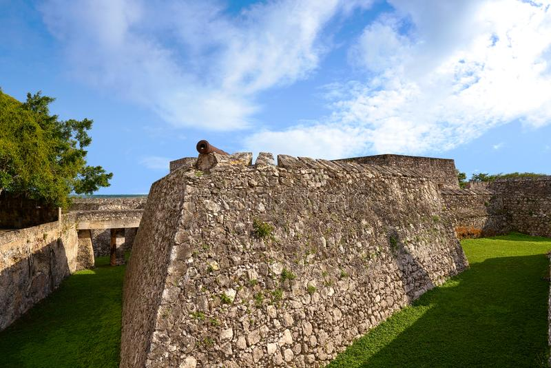 Bacalar San Felipe fort Quintana Roo Mexico royaltyfria bilder