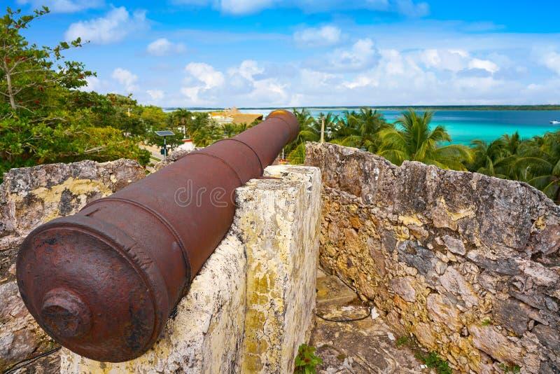 Bacalar San Felipe fort Quintana Roo Mexico fotografering för bildbyråer
