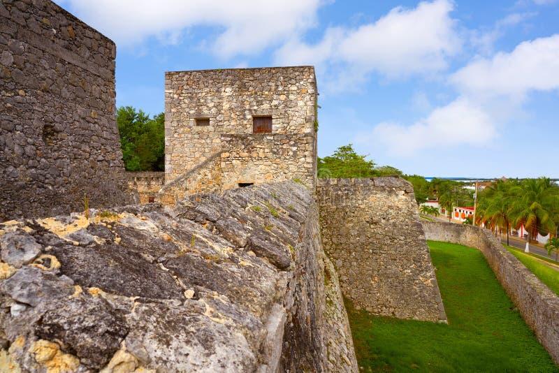 Bacalar San Felipe fort Quintana Roo Mexico royaltyfria foton