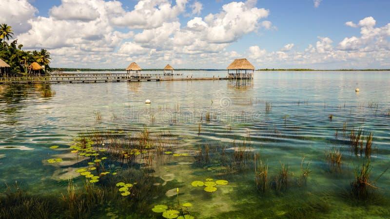 Bacalarlagune in Yucatan, Mexico stock afbeeldingen