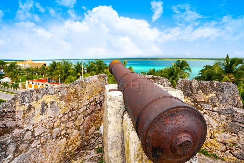 Bacalarsan Felipe fort Quintana Roo Mexico stock foto's
