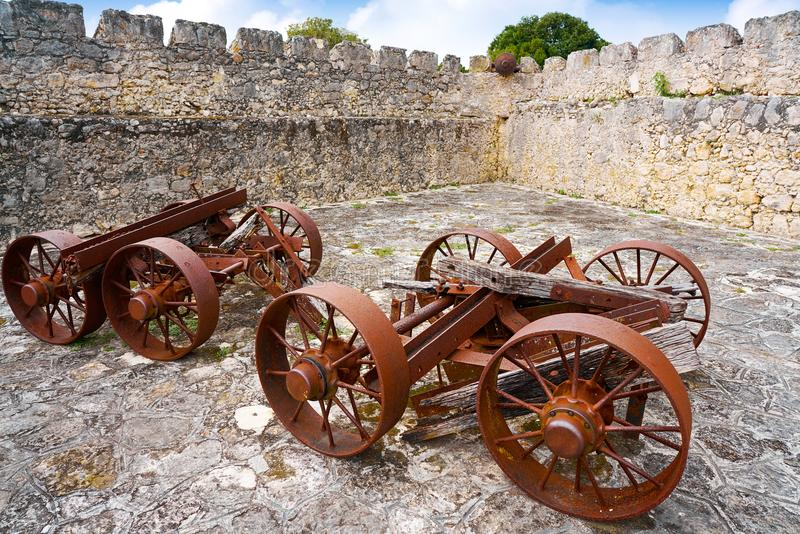 Bacalarsan Felipe fort Quintana Roo Mexico royalty-vrije stock afbeelding