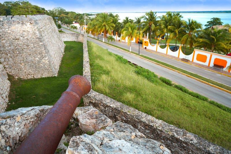 Bacalarsan Felipe fort Quintana Roo Mexico royalty-vrije stock afbeeldingen