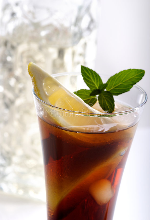 Bacardi with Coca Cola cocktail. A glass with Bacardi and Coca cola stock photos