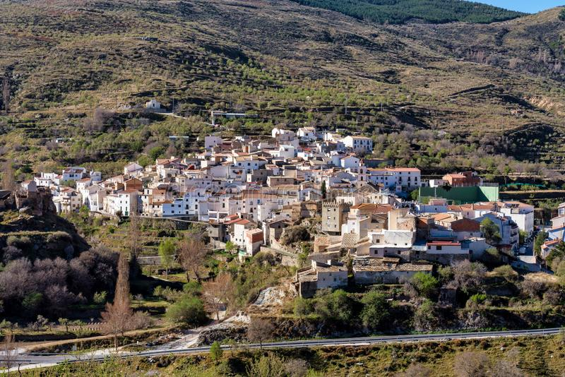 Bacares w Sierrze De Los Filabres, Almeria, Andalusia, Hiszpania fotografia royalty free