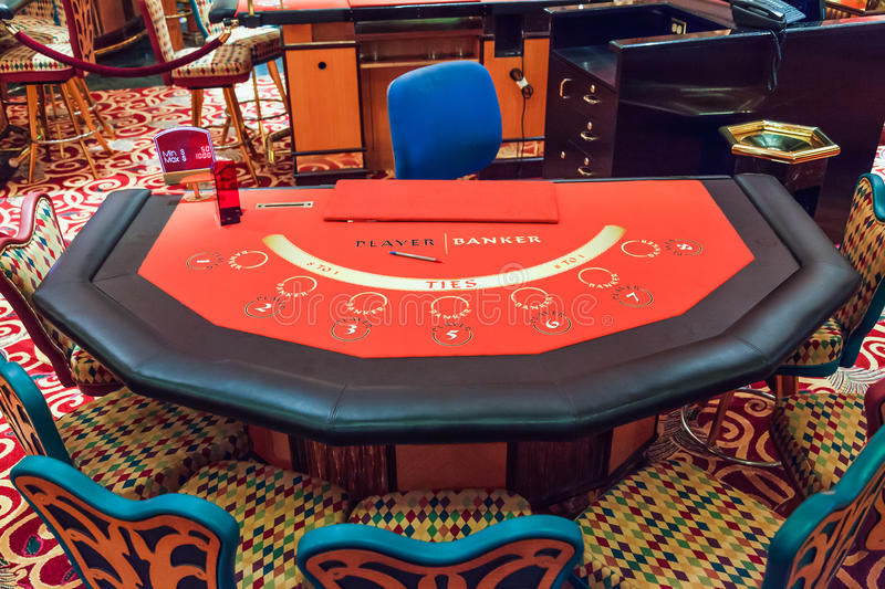 Baccarat Table royalty free stock image