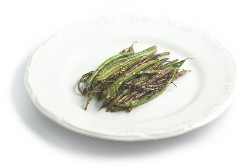 Baccello di fagiolo cucinato immagine stock libera da diritti