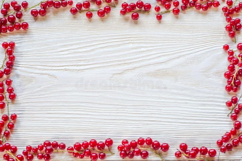 Bacche su fondo di legno Bacca organica della primavera o di estate sopra legno immagine stock