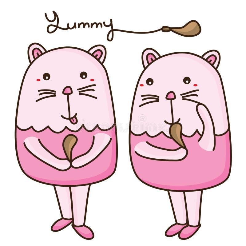 Bacchetta del grasso del gatto illustrazione vettoriale