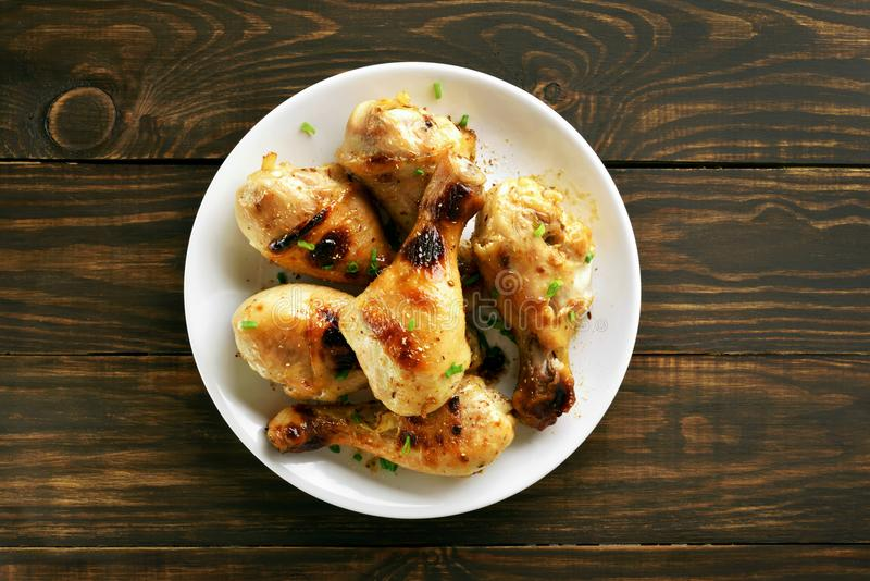 Bacchetta di pollo arrostita fotografia stock libera da diritti