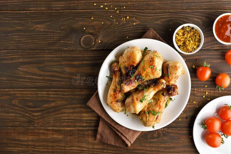 Bacchetta di pollo cotta immagine stock