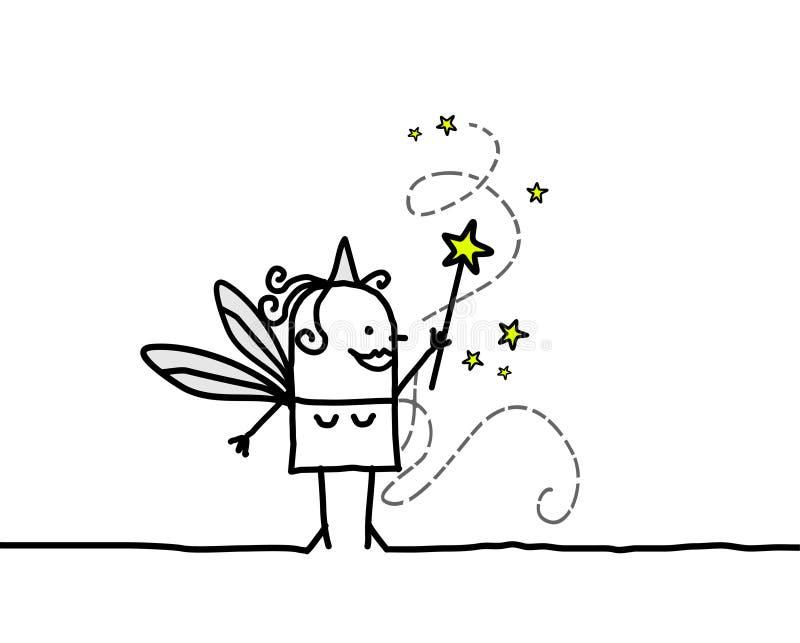 Bacchetta leggiadramente & magica illustrazione vettoriale